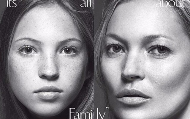 d0294ddb44543 Filha de Kate Moss protagoniza capa da Vogue Itália ao lado da mãe - Já viu  como ela cresceu    Nova Gente
