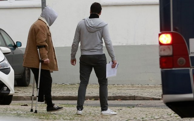 Diogo Carmona com um amigo