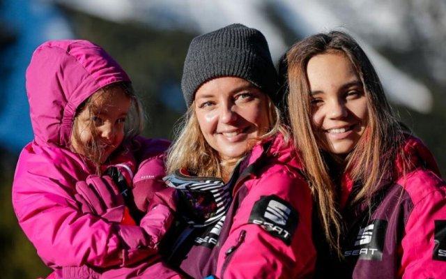 Bárabara com as filhas