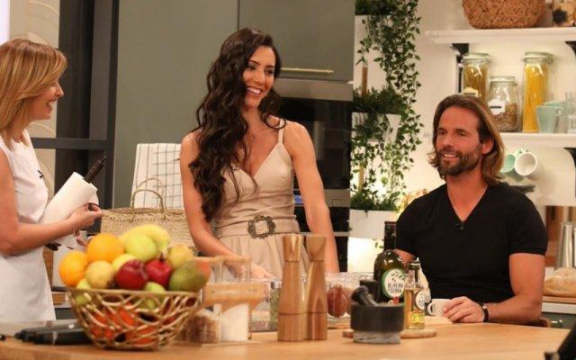 Kelly Baron e Pedro Guedes com Cristina Ferreira