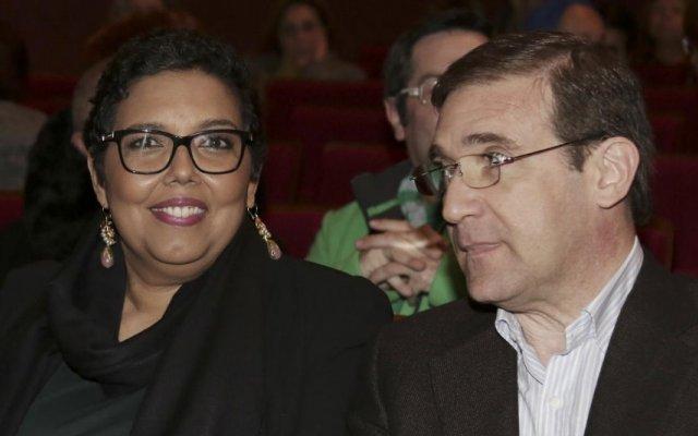Laura Ferreira e Pedro Passos Coelho