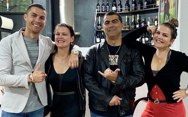 Cristiano Ronaldo e os irmãos Elma, Hugo e Katia Aveiro