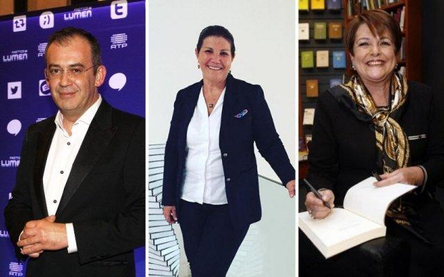 José Alberto Carvalho, Dolores Aveiro e Luísa Castel-Branco