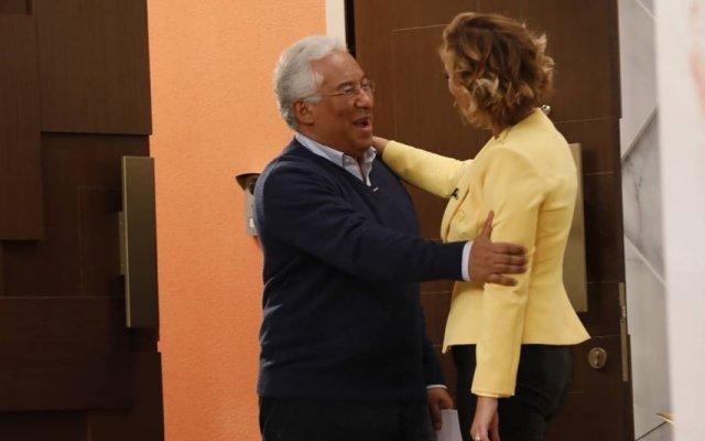 Cristina Ferreira e António Costa