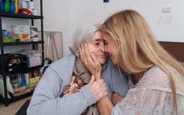 Mila Ferreira com a mãe
