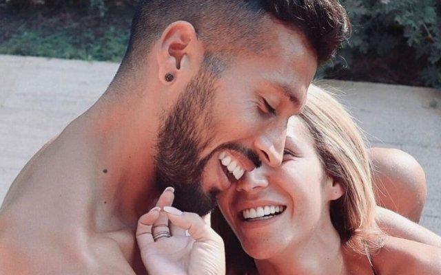 Ezequiel Garay e Tamara Gorro
