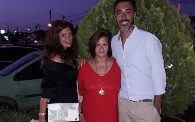 Gisela Serrano com a mãe, Dilar, e o marido, Nuno Pereira