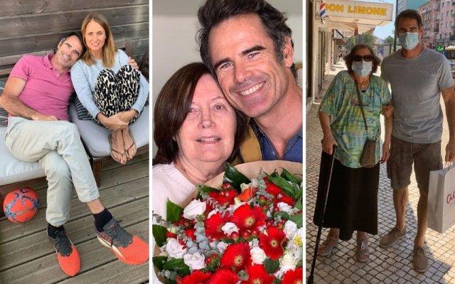 Pedro Lima com a mulher, a mãe e a avó