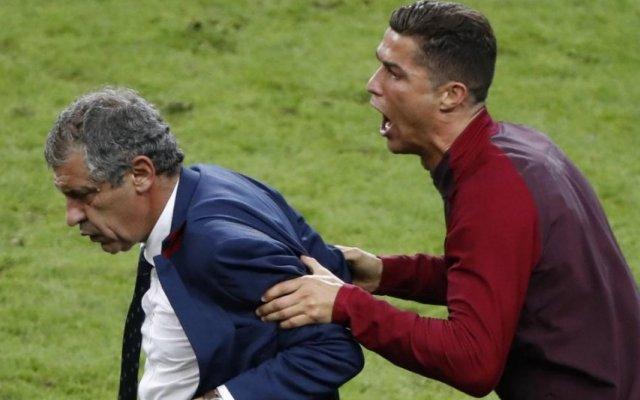 Fernando Santos e Cristiano Ronaldo