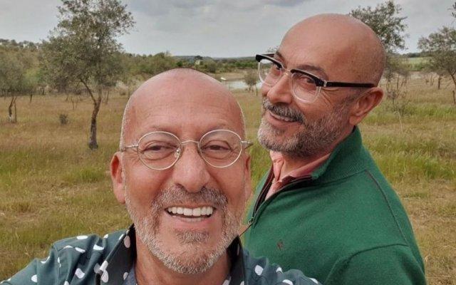Manuel Luís Goucha brinca com marido após tentativa falhada de pescaria