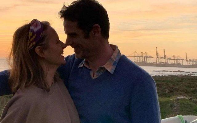 Pedro Lima com a mulher, Anna Westerlund