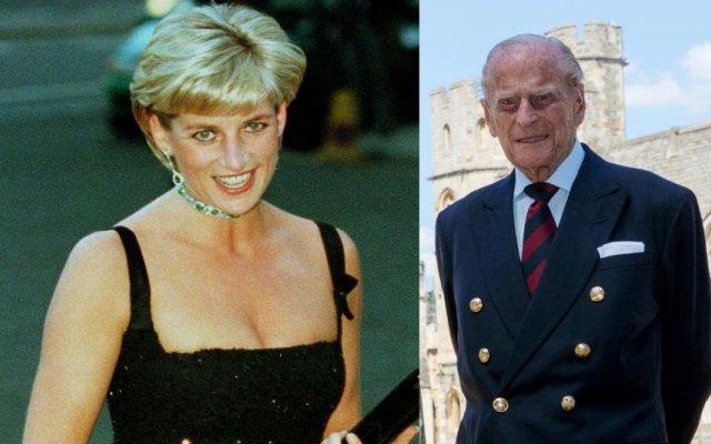 Princesa Diana e Filipe de Edimburgo, marido da rainha Isabel II