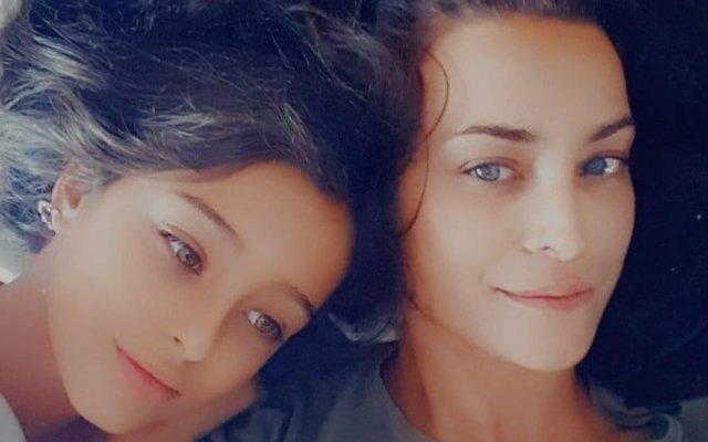 Andreia Dinis e a filha