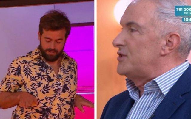 """O cantor Clemente participou no programa """"Regresso ao Futuro"""" apresentador Cláudia Vieira e João Manzarra"""