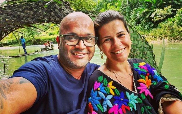 Fernanda Rocha e a mulher, Sónia Macedo