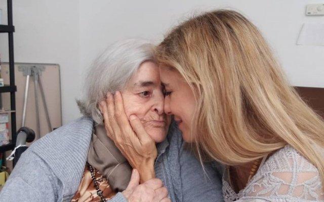 Mila Ferreira e a mãe