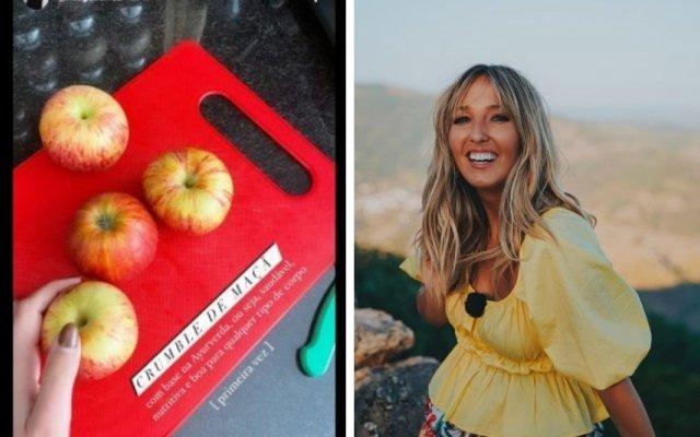 Inês Gutierrez ensina a fazer um crumble de maçã saudável