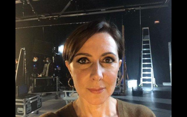 """Maria João Abreu durante as gravações da novela da SIC """"A Serra"""""""