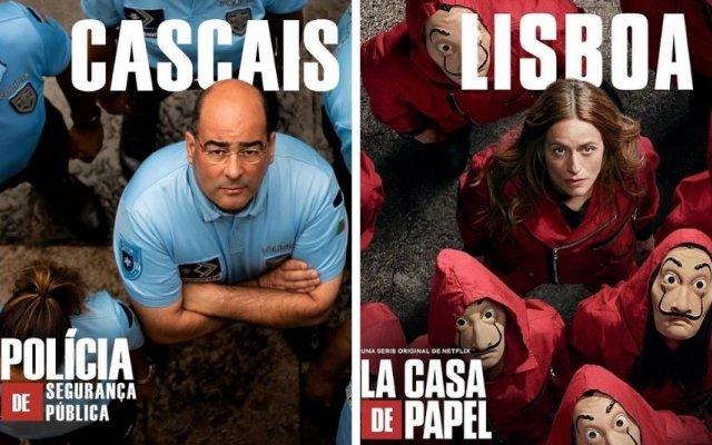 """A PSP brincou com a estreia da quinta temporada da série espanhola """"La Casa de Papel"""""""
