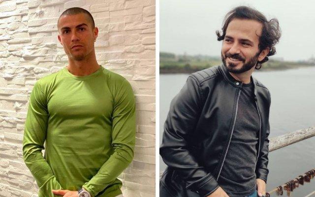 Tiago Castro e Cristiano Ronaldo