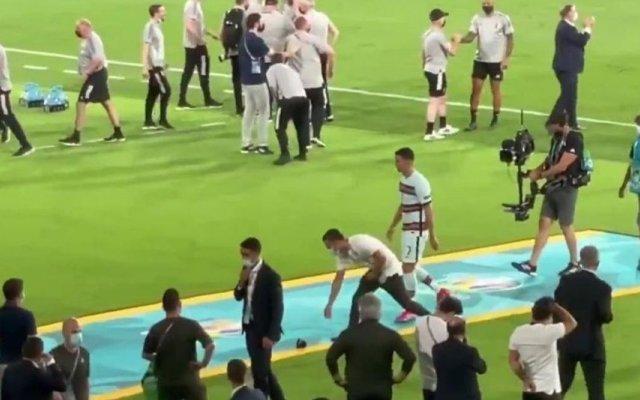 Cristiano Ronaldo não escondeu a desilusão