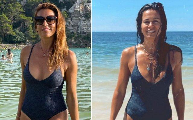 Catarina Furtado e Cláudia Vieira usaram o mesmo fato-de-banho