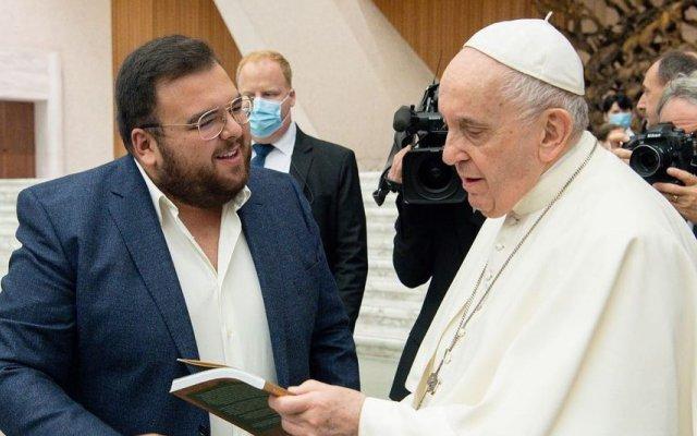 Rúben Pacheco Correia foi recebido pelo Papa Francisco