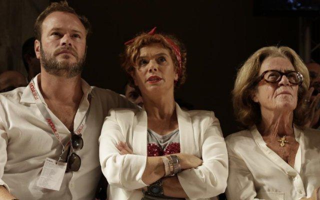 Ana Brito e Cunha com a mãe e o marido