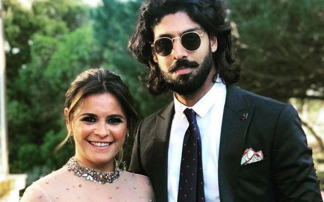 Carla Baía e companheiro