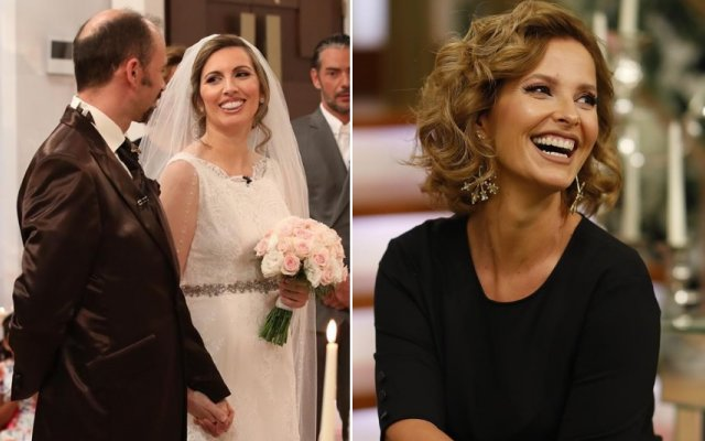 Cristina Ferreira e os noivos Carla e Vasco