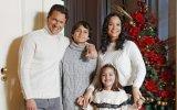 Vítor Hugo com a mulher Renata Arannha e os filhos Nicolau e Valentina