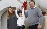 Joana e Eduardo Madeira com a filha Leonor