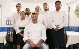 Jorge e a equipa do restaurante Casa Azul