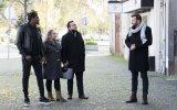 Ljubomir Stanisic à entrada do restaurante com a equipa