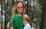 Marisa Cruz e o filho Diogo