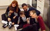 Carolina Deslandes com a família