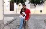 Cláudio Ramos com a filha Leonor