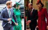 Harry, Meghan, William e Kate