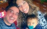 Manuel Melo com a mulher, Sofia Fernandes, e o filho Martim