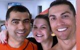 Katia Aveiro com os irmãos, Hugo Aveiro e Cristiano Ronaldo