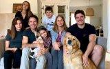 Pedro Lima com a mulher, Anna Westerlund, e os cinco filhos
