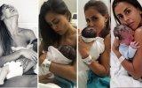 Carolina Patrocínio com os quatro filhos