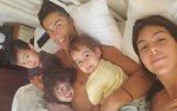 Cristiano Ronaldo e Georgina Rodríguez com os filhos