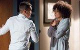 Em Quer o Destino, Marcos não controla os ciúmes de Carla