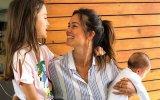 Cláudia Viieira com as filhas