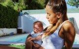 Carolina Patrocínio com o bebé Eduardo