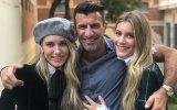 Luís Figo com as filhas