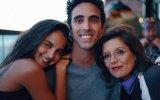 Sara Matos com o irmão Afonso e a cunhada Joana Castro