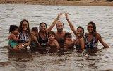 Carolina e Pedro Patrocínio com as filhas e os netos
