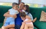Cristiano Ronaldo com Eva, Mateo e Alana Martina